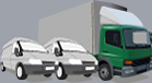 Removals trucks and moving van